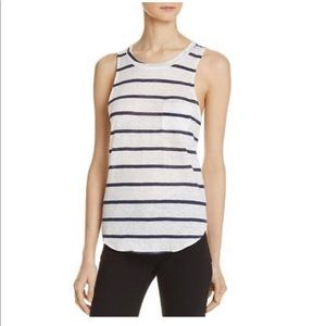 CHASER Linen Burnout Striped Tank Top NWT XS